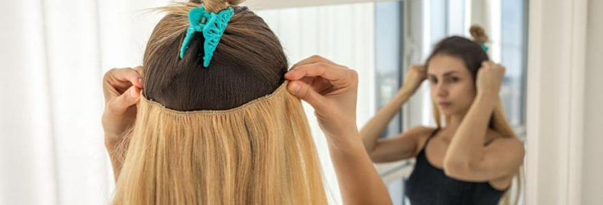 extensions de cheveux à clips